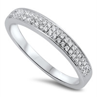 925 Genuine Sterling Silver Ring with Cubic Zirconia