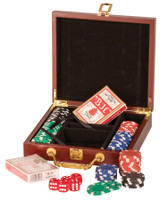 Personalized Rosewood Finish 100 chip Poker Set