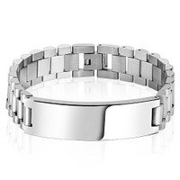 Large Quality Stainless Steel Bracelet - Free Engraving