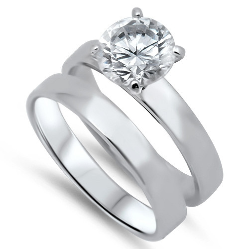 ... Sterling Silver Wedding Ring Sets   Free Engraving. Personalized Rings