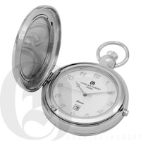 Polished Finish Hunter Case Picture Frame Quartz Pocket Watch by Charles Hubert
