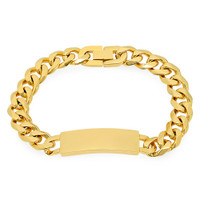 Quality Stainless Steel Gold Color ID Bracelet