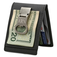 Personalized Leather Wallet / Money Clip / Bottle Opener