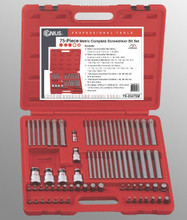 Genius Tools Metric Complete Screwdriver Bit Set 75 Pc TX-23475M