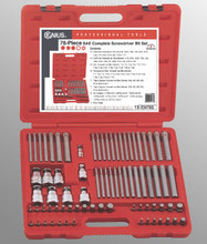 Genius Tools SAE Complete Screwdriver Bit Set 78 Pc TX-23478S