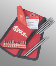 Genius Tools SAE Square & Hex Screwdriver Bit Set 27 Pc SB-227RHS