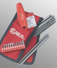 Genius Tools Slotted & Philips Screwdriver Bit Set 21 Pc SB-221SP