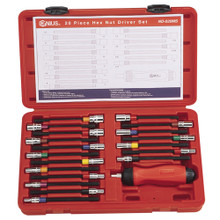 Genius Tools Metric & SAE Hex Nut Driver Set 20 Pc ND-020MS
