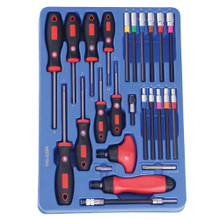Genius Tools Hex Screwdriver & Ratcheting Screwdriver Set 25 Pc MS-025R
