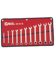 Genius Tools Metric Combination Ratcheting Wrench 11 Pc Set GW-7611M