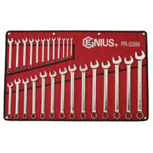 Genius Tools Metric Combination Wrench 26 Pc Set PR-026M