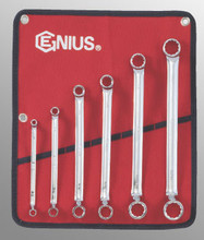 Genius Tools SAE Box End Wrench 6 Pc Set DE-706S