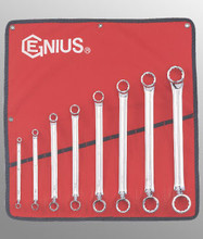 Genius Tools SAE Box End Wrench 8 Pc Set DE-708S