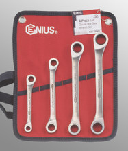 Genius Tools SAE Double Box Gear Wrench 4 Pc Set GW-7504S