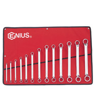 Genius Tools Metric Box End Wrench 13 Pc Set DE-713M