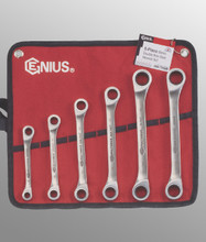 Genius Tools Metric Double Box Gear Wrench 6 Pc Set GW-7006M