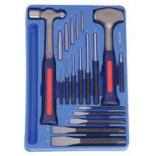 Genius Tools Punch, Chisel & Hammer 19 Pcs Set MS-019