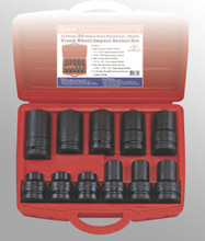 Genius Tools #5 Spline Drive Truck Wheel Impact Socket 11 Pcs Set TR-511MS