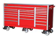"Williams 73"" Super Heavy Duty Industrial Roll Cabinet, Red 50990"