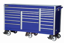 "Williams 73"" Super Heavy Duty Industrial Roll Cabinet, Blue 50990BL"