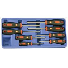 Genius Tools SAE Wobble Hex Screwdriver Set 8 Pc HR-578SW