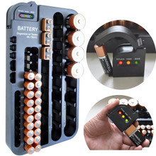 MLTOOLS® Battery Organizer with Tester T8242 - Holds More Than 70 Batteries