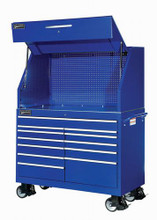 "Williams 12 Drawer Super Heavy Duty Roll Cabinet 53-1/2""W X 24-1/2"" Blue (Canopy NOT included) 50885BL"