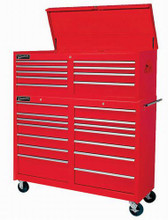 """Williams 14 Drawer 53"""" Commercial Roll cabinet Red ( Top Chest NOT included) 50891"""