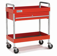 "Williams 30"" 1-Drawer Service Cart - Red 50725"