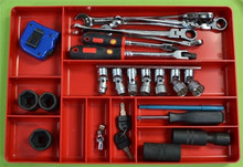 """Ernst Manufacturing Tools 11"""" x 16"""" 10 compartment Organizer Tray - Red : 5010"""