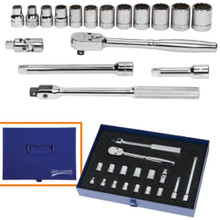 "Williams Tools USA Metric 3/8"" Drive 12 Point Socket and Drive Tool Set 17-Pcs"