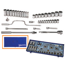 "Williams Tools SAE 12 Point 1/2"" Drive Socket and Drive Tool Set 38-Pcs"