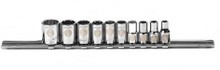 "Armstrong USA Tools 10 Pc. SAE 12 Point 1/4"" Drive Socket Set 15-240"