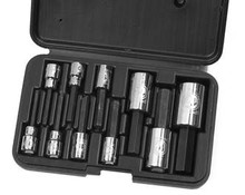 """Armstrong USA Tools 10 Pc. Metric 3/8"""" and 1/2"""" Drive Hex Socket Set 44-380"""