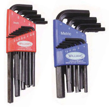 Williams Tools SAE / Metric Ball End and Standard Hex Key Sets 8 Sizes Available