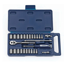 "Williams Tools SAE & Metric 1/4"" Drive 12 Point Socket and Drive Tool Sets 27-Pcs 50672"