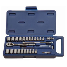 "Williams Tools SAE & Metric 1/4"" Drive 6 Point Socket and Drive Tool Sets 27-Pcs 50661A"