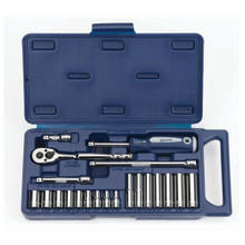 "Williams Tools SAE 1/4"" Drive 6 Point Socket and Drive Tool Set 21-Pcs 50662"