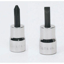 """Williams Tools USA 3/8"""" Drive Screwdriver Bit Sockets 8 Sizes Available"""