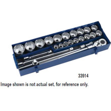 "Williams Tools Metric 12 Point 3/4"" Drive Socket and Drive Tool Set 23-Pcs"
