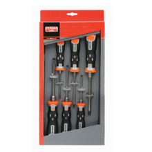 Bahco Tools XHD Slotted & Pozidriv Screwdriver set w/ Hex Blades & Bolsters 6-Pcs 202,021