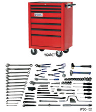 Williams 102 Piece Basic Machine Repair Set W/ Tool Box WSC-102TB
