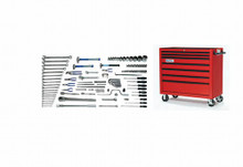 Williams 119 Piece Metric Heavy Duty Equipment Service Set W/ Tool Box MSC-118TB
