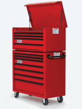 """Williams 40"""" 4 Drawer Top Chest ONLY (Roll Cabinet ONT included), Red W40TC4"""