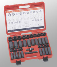 "Genius Tools Metric 1/2"" Drive Master Impact 6 Point Socket 40 Pc Set GS-440M"