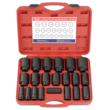"Genius Tools SAE 3/4"" Drive Deep Impact 6 Point Socket 21 Pc Set DI-621S"