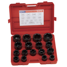 "Genius Tools Metric 1"" Drive Impact 6 Point Socket 17 Pc Set IS-817M"