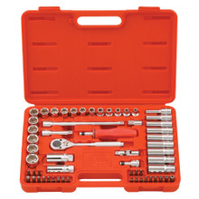 "Genius Tools Metric 3/8"" Drive Hand 6 Point Socket & Bits 59 Pc Set AC-359A"