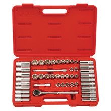 "Genius Tools SAE & Metric 3/8"" Drive Hand 6 Point Socket 47 Pc Set GS-347MS"
