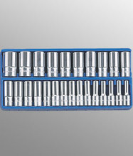 "Genius Tools Metric 1/2"" Drive Deep Hand 6 Point Socket 25 Pc Set DS-425M"